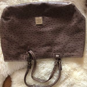 Dooney and Bourke grey ostrich bag